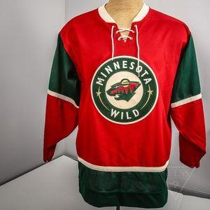 separation shoes dba6d f88ed Men's Large Minnesota Wild Vintage Hockey Jersey